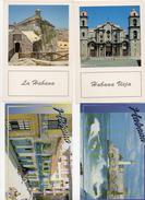 6 Set Lotto Cartoline Cuba La Habana Castillo Reyes Del Morro Habana Vieja Calle Obispo Catedralplaya Beach Varadero - Cartoline