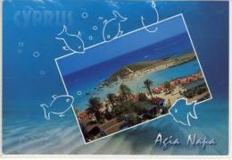 AGIA NAPA - Cyprus,  Panorama Air View,  Used , Freistempel,red Meter Stamp, EMA, Large Format - Cyprus