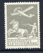 DENMARK 1929 Airmail 50 Øre LHM / * .  Michel 180 - Unused Stamps