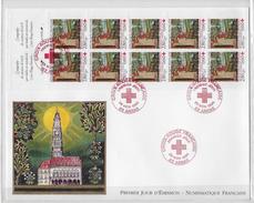 Enveloppe Premier Jour D'émission Numismatique Croix Rouge - 1990-1999