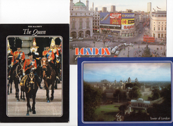 3 Cartoline Set Lotto Londra London Tower The Queen  Horse Piccadilly Circus - Piccadilly Circus