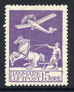 DENMARK 1925 Airmail 15 Øre. LHM / * .  Michel 144 - Unused Stamps