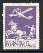 DENMARK 1925 Airmail 15 Øre. LHM / * .  Michel 144 - 1913-47 (Christian X)