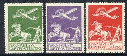 DENMARK 1925 Airmail Set Of 3 MNH / ** .  Michel 143-45 - Nuovi