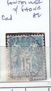 COTE D'OR - S/101 - 15c Sage  Bleu  - Oblit   CAD A2  (  Pontailler S/ Saone )