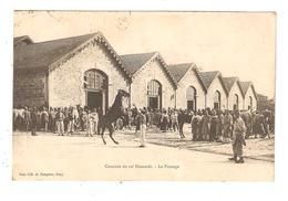 CPA Militaria 79 GRAY Casernes Du 12è Hussards La Pansage Animation : Soldats Cheval Se Cabrant Bâtiments 1908 - Caserme