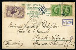 Suéde - Carte Postale De Hernôsand Pour La France En 1904 , Taxée , Vignette  Ref F397