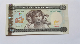 ERITREA 5 NAFKA 1997 - Erythrée