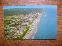 "états-unis , An Aérial View Of The Famous , Virginia Beach Coastline  "" Beaux Timbres Et Cachets "" - Virginia Beach"