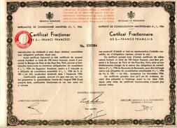 Roumanie Consolidation 1934 Fractionnaire Numéro 039384 - Sin Clasificación