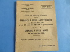 Guide Technique Des Grenades De Fusil Antipersonnel De 34mm Mle 1952 Et 1952 M 60 - Documenti