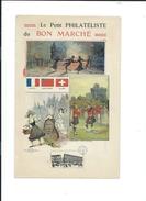 LOT  De  5   Carnets Illustrés De 4 Pages Chacun :  Le Petit PHILATELISTE Du  BON  MARCHE - Début Du Siècle - - Picture Cards