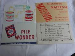 4 Buvards -chicoree Mairesse-valentine-quinquina Banyuls Cognac Rhum-wonder - Chaussures
