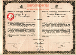 Roumanie Consolidation 1934 Fractionnaire Numéro 039385 - Sin Clasificación