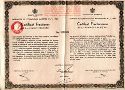 Roumanie Consolidation 1934 Fractionnaire Numéro 039386 - Sin Clasificación