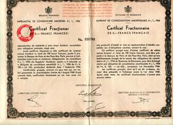 Roumanie Consolidation 1934 Fractionnaire Numéro 039785 - Sin Clasificación