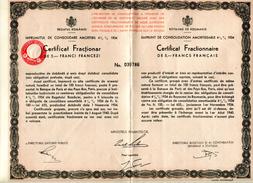 Roumanie Consolidation 1934 Fractionnaire Numéro 039786 - Sin Clasificación