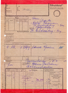Eilfrachtbrief DR 1954 RHUMSPRINGE > ST. ANDREASBERG, Frachtbrief (185-5) - Chemin De Fer
