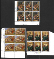 GB QEII 1967 Christmas Set In MNH Corner Blocks Of 6 - Unused Stamps