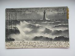 LANTERNA   PHARE  LEUCHTTURM  , LIGHTHOUSE , 1906 RUSSIA TO LAUSANNE SWITZERLAND    , OLD POSTCARD  ,  0 - Leuchttürme