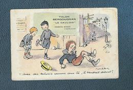 """Belle C.publicitaire Signée F Poulbot , Pub. """"Le Gaulois"""" / Bergougnan"""" ,Légende """" Avec Des Talons Comme Ceux-là, Il ... - Poulbot, F."""