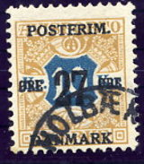 DENMARK 1918 Surcharge 27 Øre On 10 Kr Used.  Michel 96X - 1913-47 (Christian X)