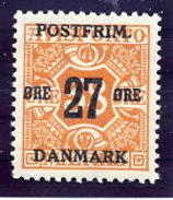 DENMARK 1918 Surcharge 27 Øre On 38 Ø.  MNH / **.  Michel 91Y - Unused Stamps