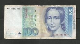 GERMANY 100 MARK 1989 FRANKFURT BANKNOTE DEUTSCHE BUNDESBANK HUNDERT DEUTSCHE MARK - [ 7] 1949-… : FRG - Fed. Rep. Of Germany