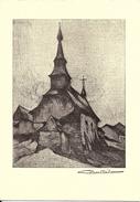 BASTOGNE - WICOURT (Rachamps) (6660) : Chapelle Saint-Hubert - D'après L'eau-forte Originale Signée C. Barthélemy. CPSM. - Bastogne