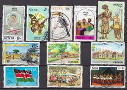 Kenya 11 Used Stamps - Kenya (1963-...)