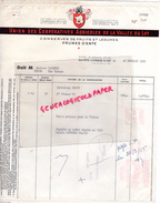 47 - SAINTE LIVRADE SUR LOT- FACTURE UNION COOPERATIVES AGRICOLES DE LA VALLEE DU LOT- PRUNES D' ENTE - PRUNE 1955 - France