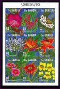 MINT NEVER HINGED MINI SHEETS OF FLOWERS - ORCHIDS   #  M-206-1  ( GAMBIA   1664