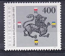 R.F.A. 1995. VIII CENTENARIO DE ENRIQUE EL LEON DUQUE DE SAJONIA Y BAVIE YVERT Nº 1637 NUEVO  SIN CHARNELA  SES480GRANDE