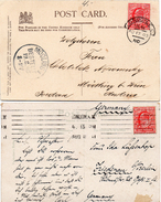 GB 1902/11: 2 Photo Postcards, Franked With 1 D EVII, Both Perf. 14 (1x De La Rue And 1x Harrison Print.)