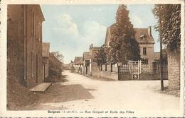 CPA Guignon Rue Gicquel Et Ecole De Filles - France