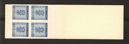 COAT OF ARMS - MNH MASKIN BOOKLET TYPE 4AO - SWEDEN 1955 SWEDISH STAMP 100 YEARS