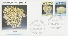 Enveloppe  FDC  1er  Jour   DJIBOUTI    Coraux  1991 - Djibouti (1977-...)