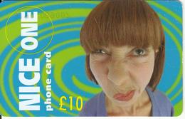 UK - Nice One Prepaid Card 10 Pounds, Used - Royaume-Uni