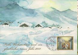 2010 Lichtenstein Mi.1579  Karte Weihnachten