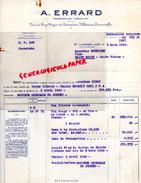 47 -SAINTE LIVRADE - FACTURE  A. ERRARD - VINS DE CARMENTRAN-VILLEMADE LAMAURELLE- 1949 - France