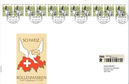 SUISSE - Rollenmarken 11er Streifen - FDC - Timbres Roulettes - BERN 2-12-1996 - FDC