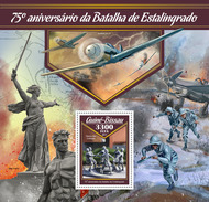 GUINEA BISSAU 2017 - World War 2: Stalingrad S/S. Official Issue - WW2