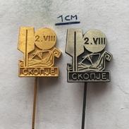 Badge (Pin) ZN004737 - Rowing / Kayak / Canoe World Championships Yugoslavia Macedonia Skopje 1975 - Canoeing, Kayak