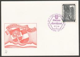 """Österreich 1956: Merkurkarte """"Textil-Fachmesse Dornbirn"""""""