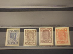 RUSSIA - 1922 OPERAIO/SOLDATO  4 VALORI ND - NUOVI(+)