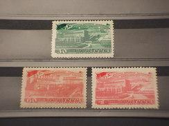 RUSSIA - 1948 ELETTRIFICAZIONE  3 VALORI - NUOVI(++)