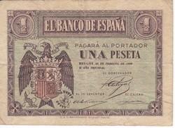 BILLETE BURGOS DE 1 PTA DEL 28 DE FEBRERO 1938 SERIE C   (BANKNOTE) - [ 3] 1936-1975 : Régence De Franco