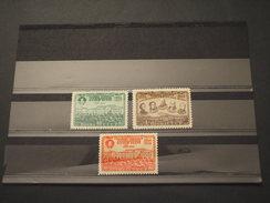 RUSSIA - 1949 TEATRO  3 VALORI( 50 K. Colore Rosso) - NUOVI(++)