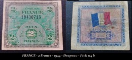 FRANCE - 2 Francs - 1944 - Drapeau - Pick 114 B - Zonder Classificatie