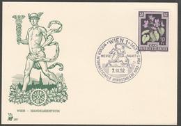 """Österreich 1952: Merkurkarte 297 """"Wr. Intern. Herbstmesse"""""""